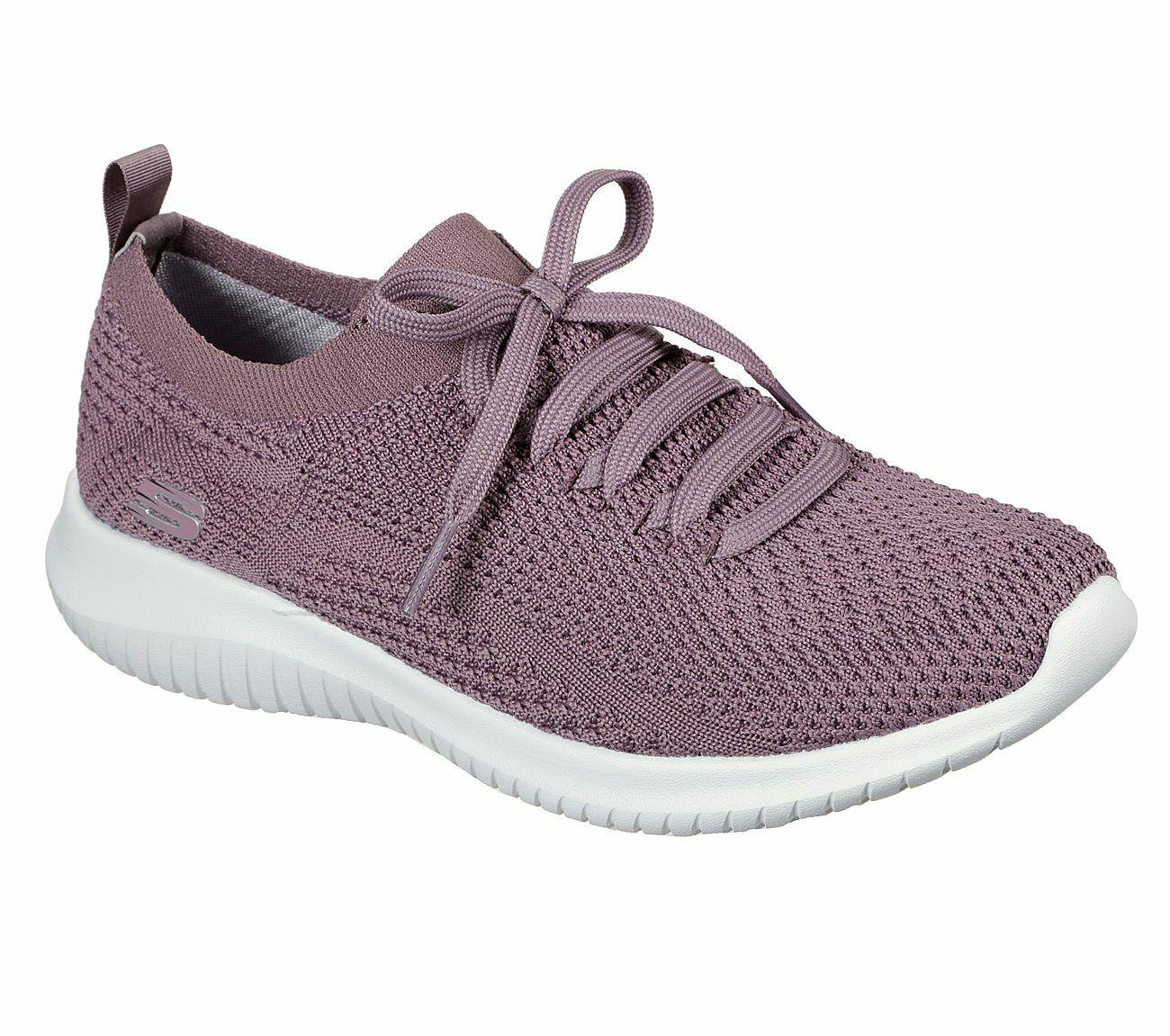 NEU SKECHERS Damen Sneakers Turnschuhe Training Sport Walking ULTRA FLEX Violett