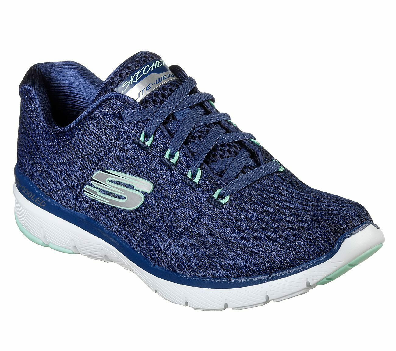 Details about Skechers Flex Appeal 3.0 Satellites Trainers Sporty Melange Shoes Womens 13064