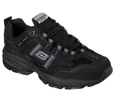 - Skechers Wide Width Black shoes Men Memory Foam Comfort Casual Big & Tall 51241