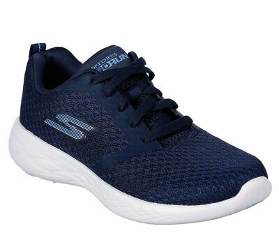 Skechers Navy White shoes Women's Sport Go Run 600 Athletic Comfort Casual 15098 ()