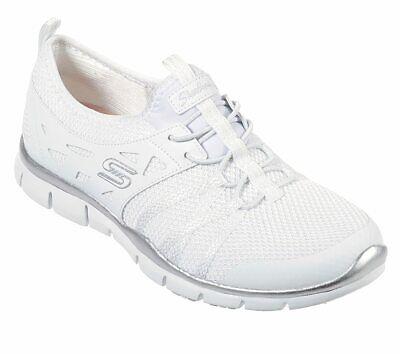 NEU SKECHERS Damen Sneakers Turnschuhe Freizeitschuhe GRATIS WHAT A SIGHT Weiß