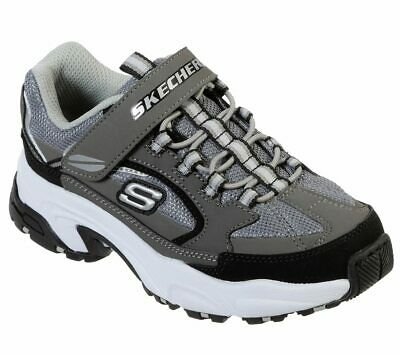Skechers STAMINA-QUICKBACK Kids/Boys Charcoal/Black 98170L/CCBK Comfort Shoes ()