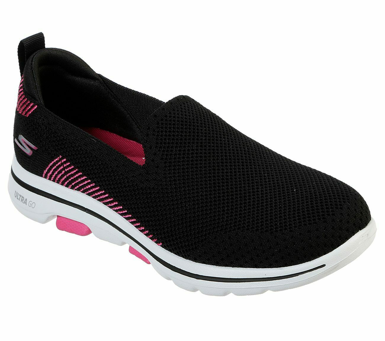 Pink Women's Black 5 Slip Skechers Sporty On 15900 Go Shoes Comfort Walk Casual hdxsQrCt