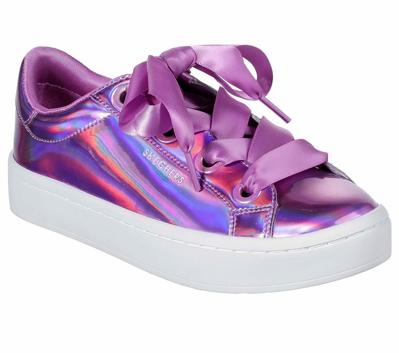 Détails sur Skechers Hi lites Liquide Bling Baskets Pour Femme Métallique Fat Laces Shoes 958 afficher le titre d'origine