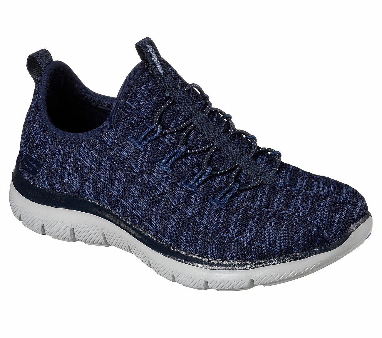 NEU SKECHERS Damen Sneakers Walking Turnschuhe FLEX APPEAL 2.0 - INSIGHTS Blau