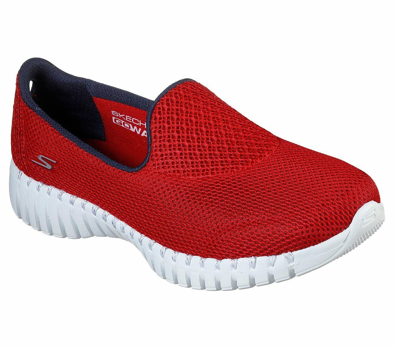 Skechers Shoes Red Go Walk Smart Women's Casual Slip On Comfort Sport Mesh 16708