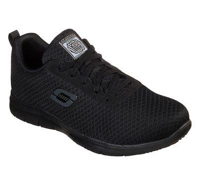77210 Black Skechers shoes Women Memory Foam Work Slip Resistant EH Safe Comfort