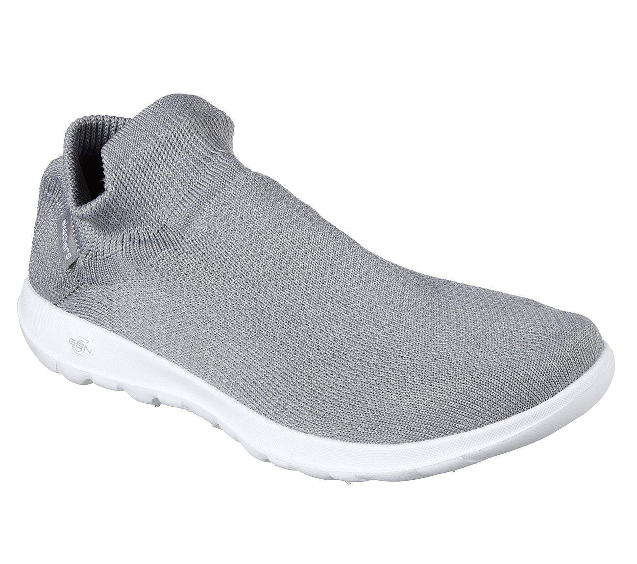 Details zu NEU SKECHERS Damen Fitness Sneakers GO WALK LITE BREAKOUT Grau
