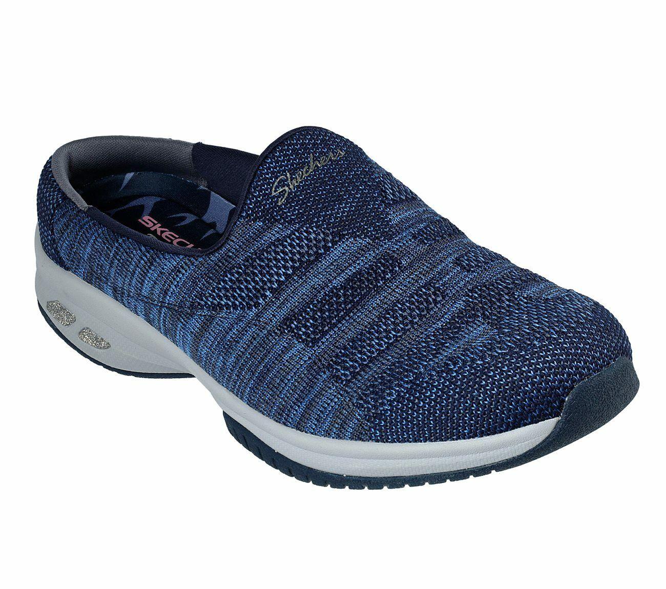 NEU SKECHERS Damen Sneakers Slipper Memory Foam MICROBURST UNDER WRAPS Schwarz