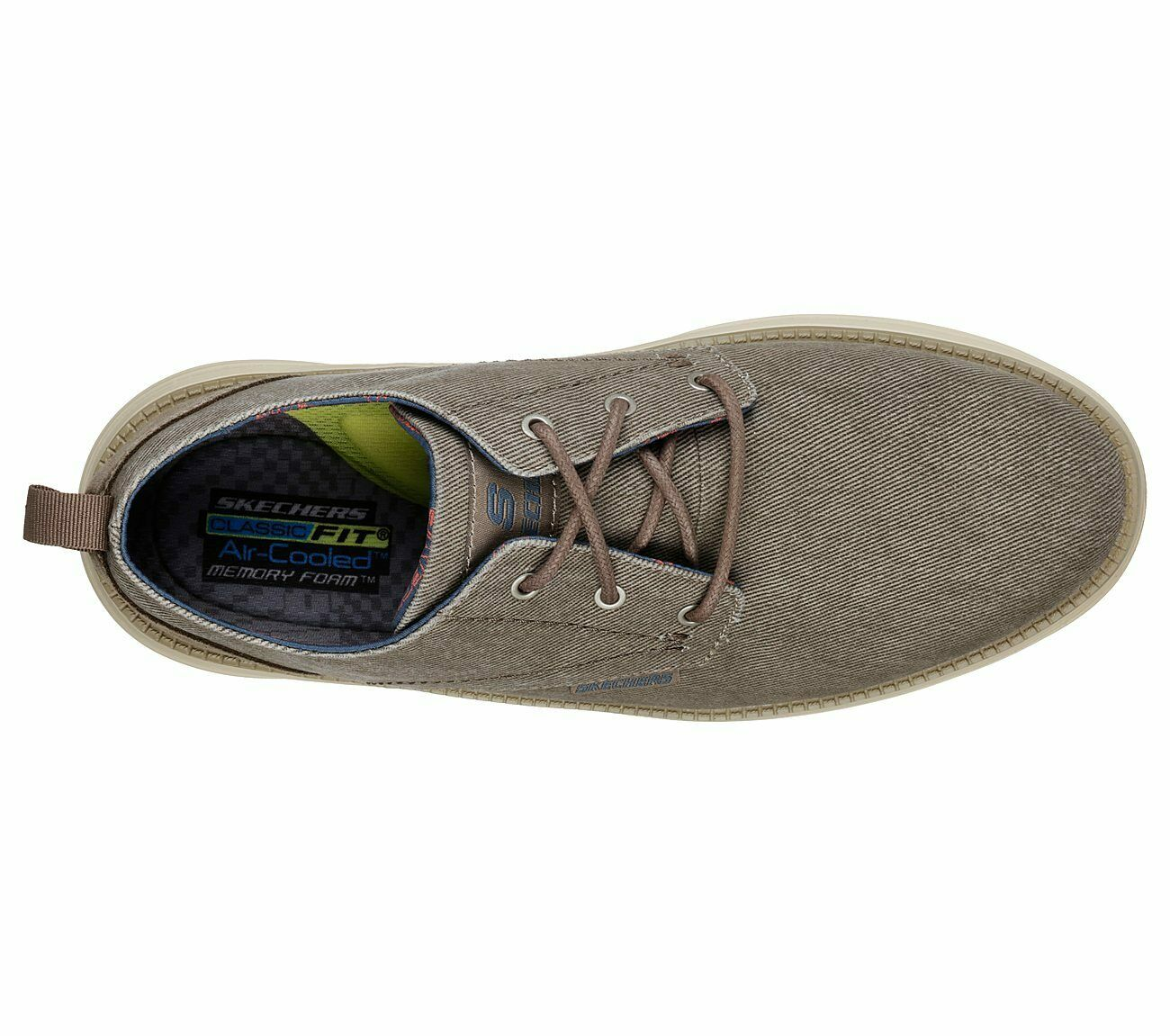 Pexton Shoes Lace Up Canvas Memory Foam Mens Trainer 65910 Skechers Status 2.0