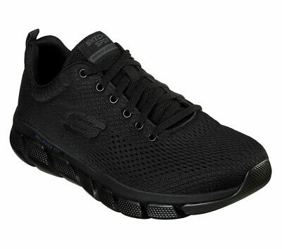 Skechers Black Extra Wide Fit shoes Men's Memory Foam Mesh Sport Athletic -