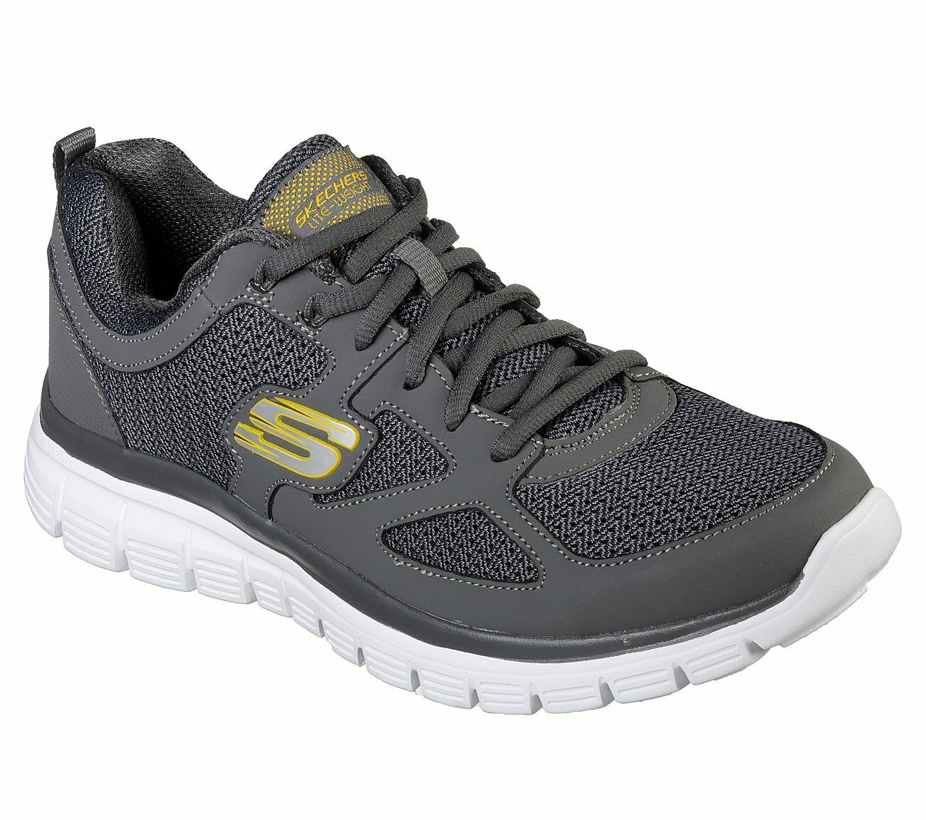 Skechers Mens Flex Agoura Trainers Sports Shoes Lace Up Breathable Lightweight