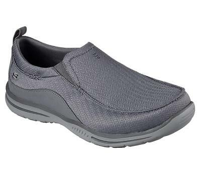 Skechers Relaxed Fit Elected Viking Mens Slip On Loafers Gray 10.5