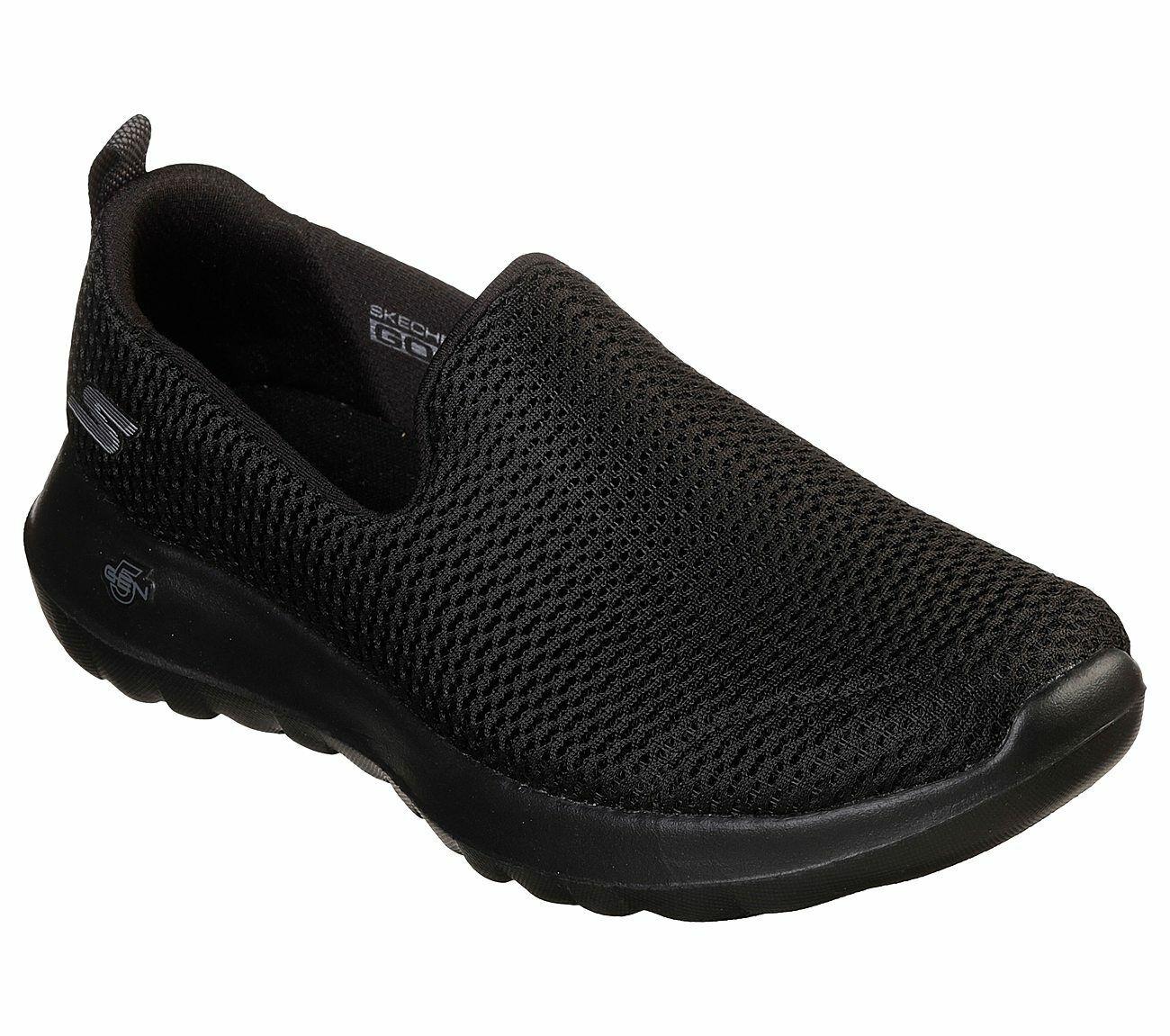 Skechers Shoes Black Go Walk Joy Women's Sport Casual Slip On Comfort Mesh 15600