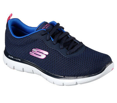 12775 Navy Skechers shoe Women Memory Foam Sport Comfort Mesh Sneaker Casual New