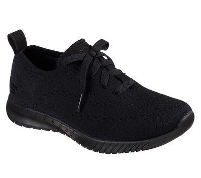 23630 Black Skechers shoes Memory Foam Women Comfort Casual Slipon Knit Mesh New