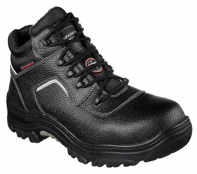 Skechers Work Relaxed Fit Burgin Sosder Composite Toe Boots in Black 77144 BLK ()