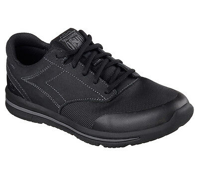 64821 Black Skechers shoes Men Memory Foam Sporty Casual Sneaker Comfort Oxford