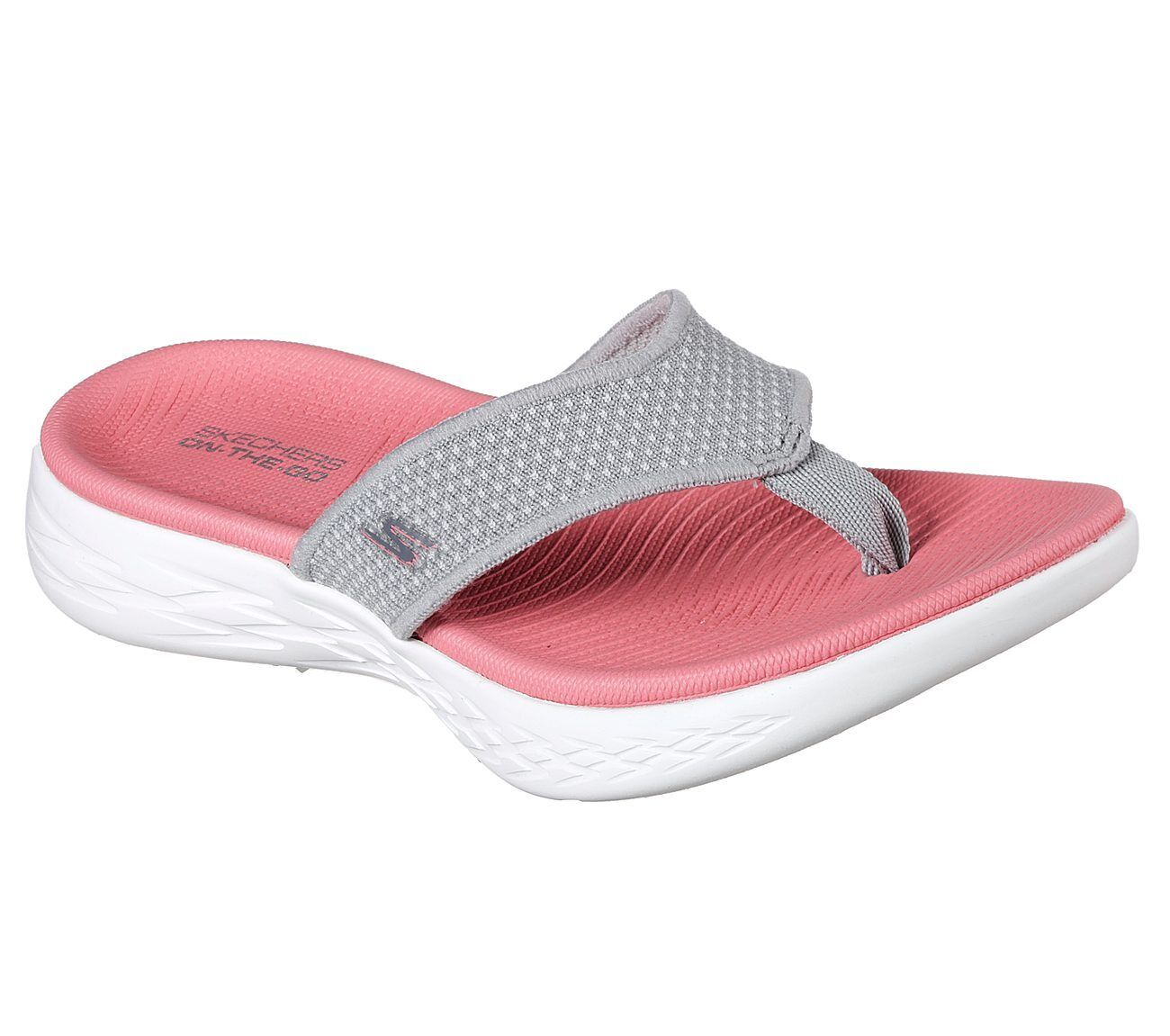 SKECHERS ON THE Go 600 Flip Flops Memory Foam Summer Womens