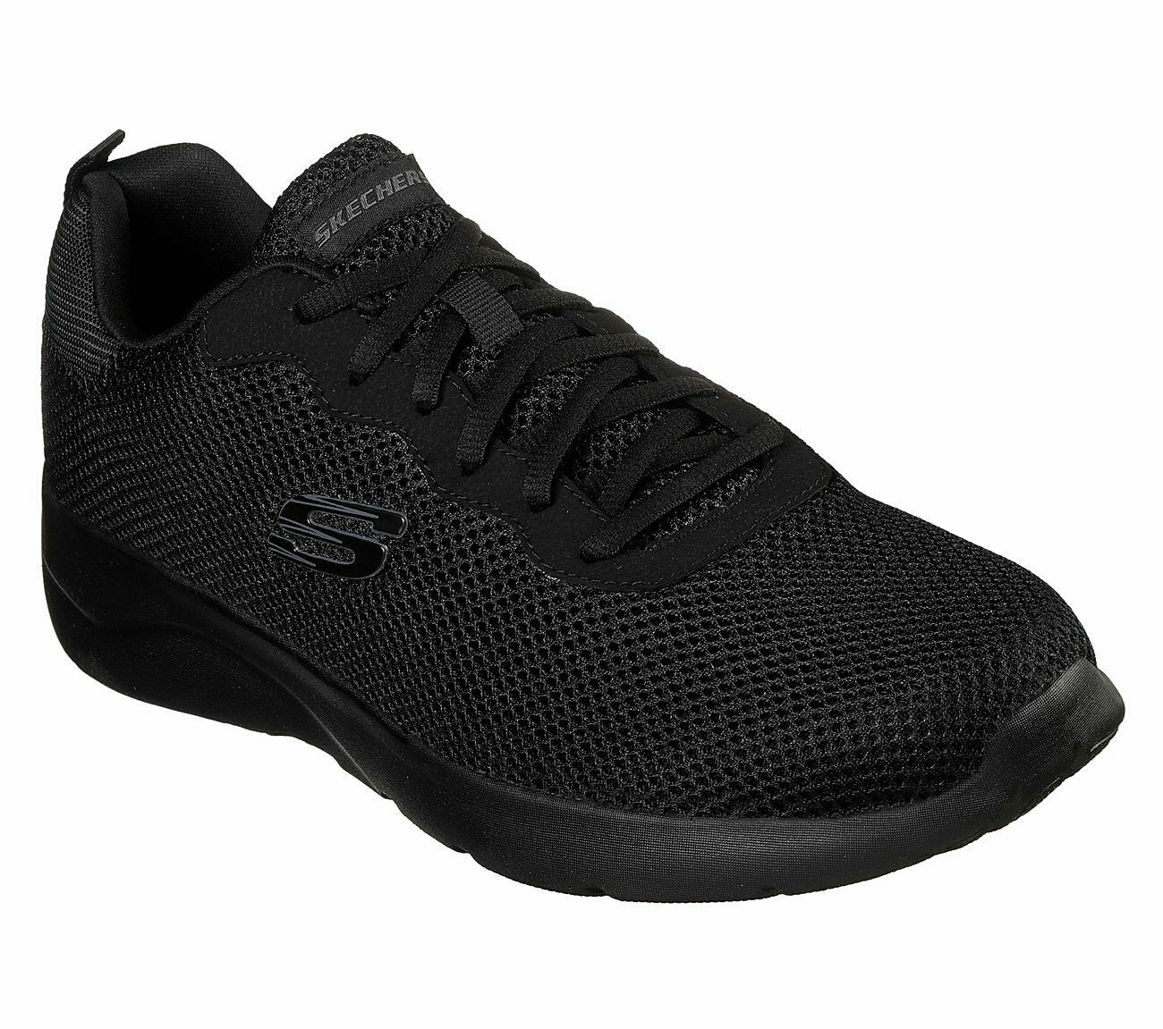 Skechers Wide Fit Black shoes Men Memory Foam Train Sporty Comfort Casual 58362