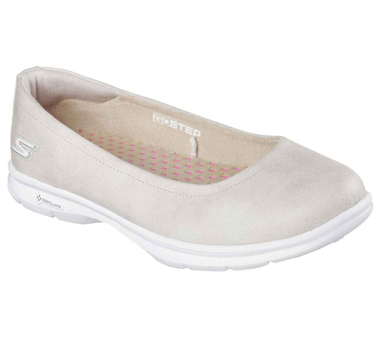 NEU SKECHERS Damen Ballerinas Slipper Loafer Walking GO STEP