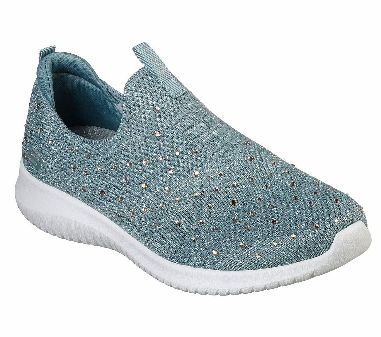 outlet store 00ca8 c3e0a Details zu NEU SKECHERS Damen Sneakers ULTRA FLEX Freizeitschuhe Slipper  Sportschuhe Grün