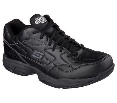 Unisex Work Shoes (77032 Skechers Men's FELTON-ALTAIR Work Shoes Non Slip Black)