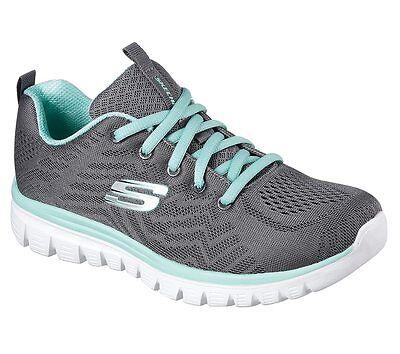 12615 CCGR Charcoal Skechers shoe Memory Foam Women Sport Comfort Casual Sneaker