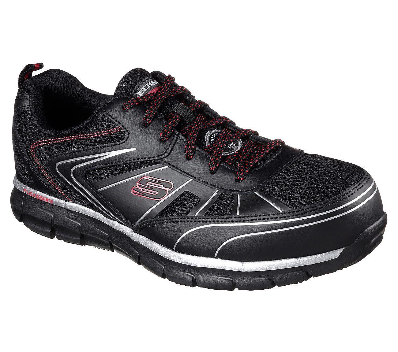 0ae77e70cd3 77122 Wide Fit Black Skechers shoe Work Men Memory Foam Slip ...