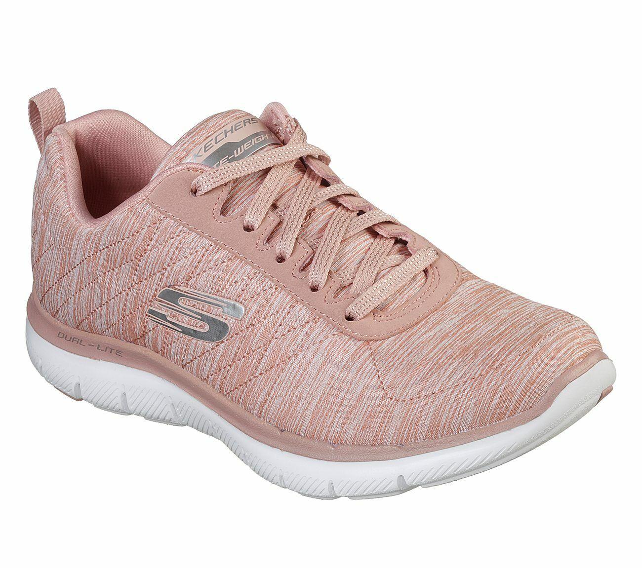 Dettagli su NUOVO Skechers da donna Sneakers Flex Appeal 2.0 Scarpe Sportive Scarpe Per Il Tempo Libero Rosa mostra il titolo originale