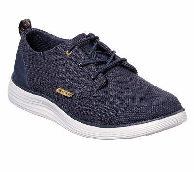 Skechers shoes Navy Men Memory Foam Casual Comfort Soft Woven Mesh Oxford 65900 Mesh-oxford
