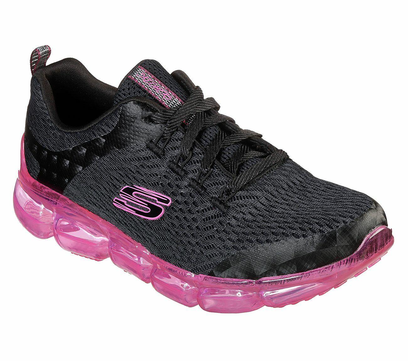 Details zu NEU SKECHERS Damen Sneakers SKECH AIR 92 Sportschuhe Trainingsschuhe Schwarz