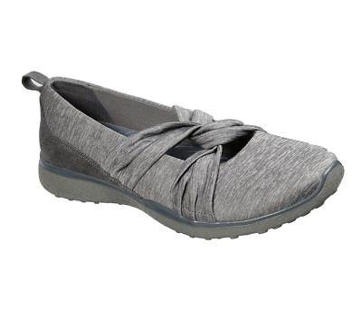 NEU SKECHERS Damen Sneakers Turnschuhe Mary Jane MICROBURST KNOT CONCERNED Grau Mary Jane Sneaker Schuh