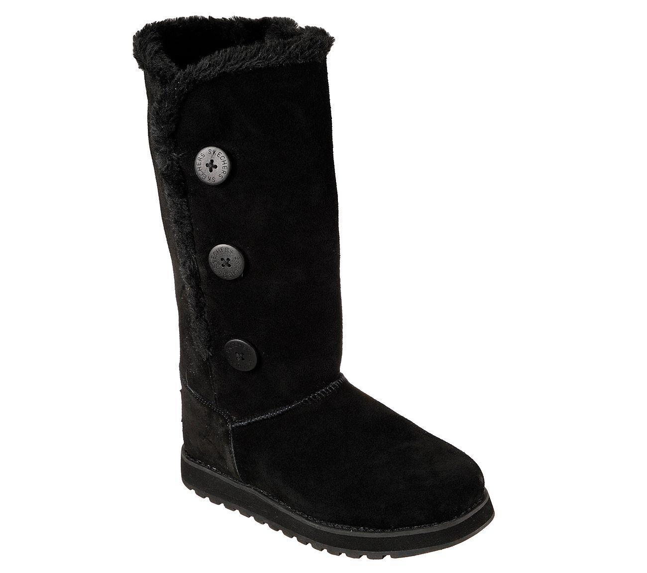 f86e436c6ae1f Skechers Keepsakes Winter Solstice Boots Womens Memory Foam Tall Mid Calf  Suede