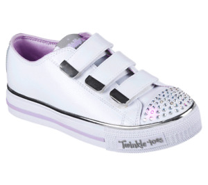 Size 5.5 Sketchers White Twinkle Toes Sneakers - Chrome Crystal