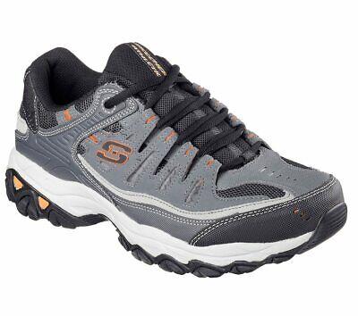 - 50125 Charcoal Gray Skechers shoes EWW 4E Wide Width Big & Tall Men Memory Foam