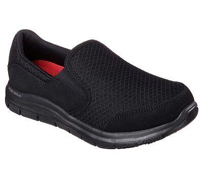 76580 Black Skechers shoe New Women Work Memory Foam Flex Comfort Slip Resistant