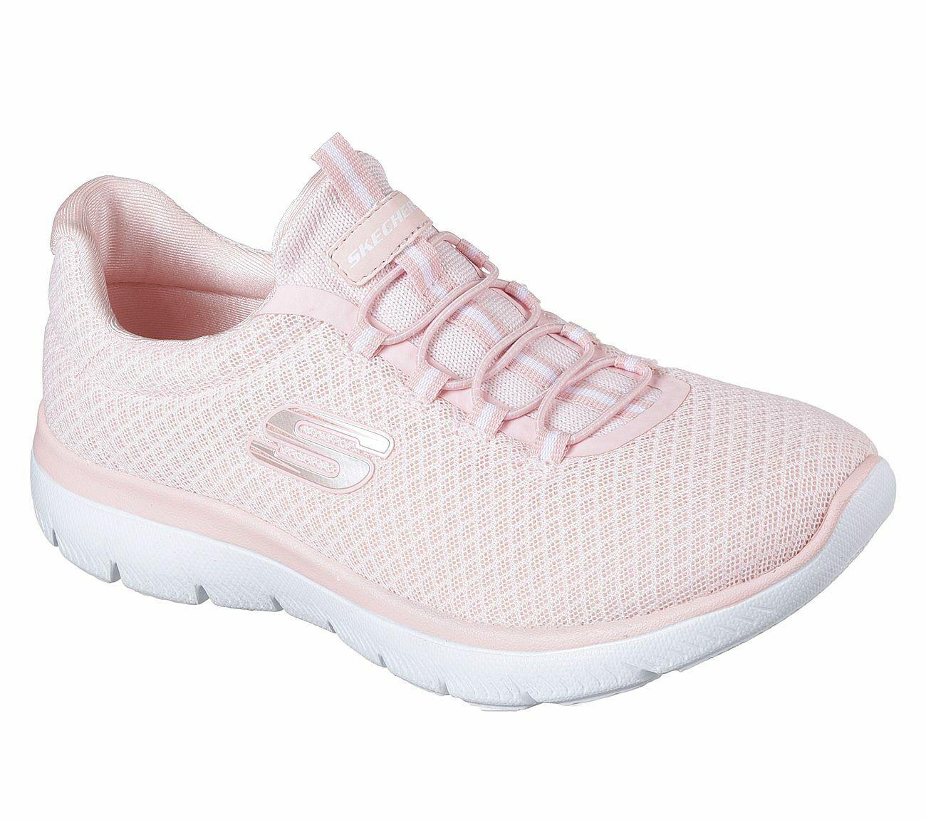 NEU SKECHERS Damen Sneakers Turnschuhe Training Sport Walking SUMMITS Pink