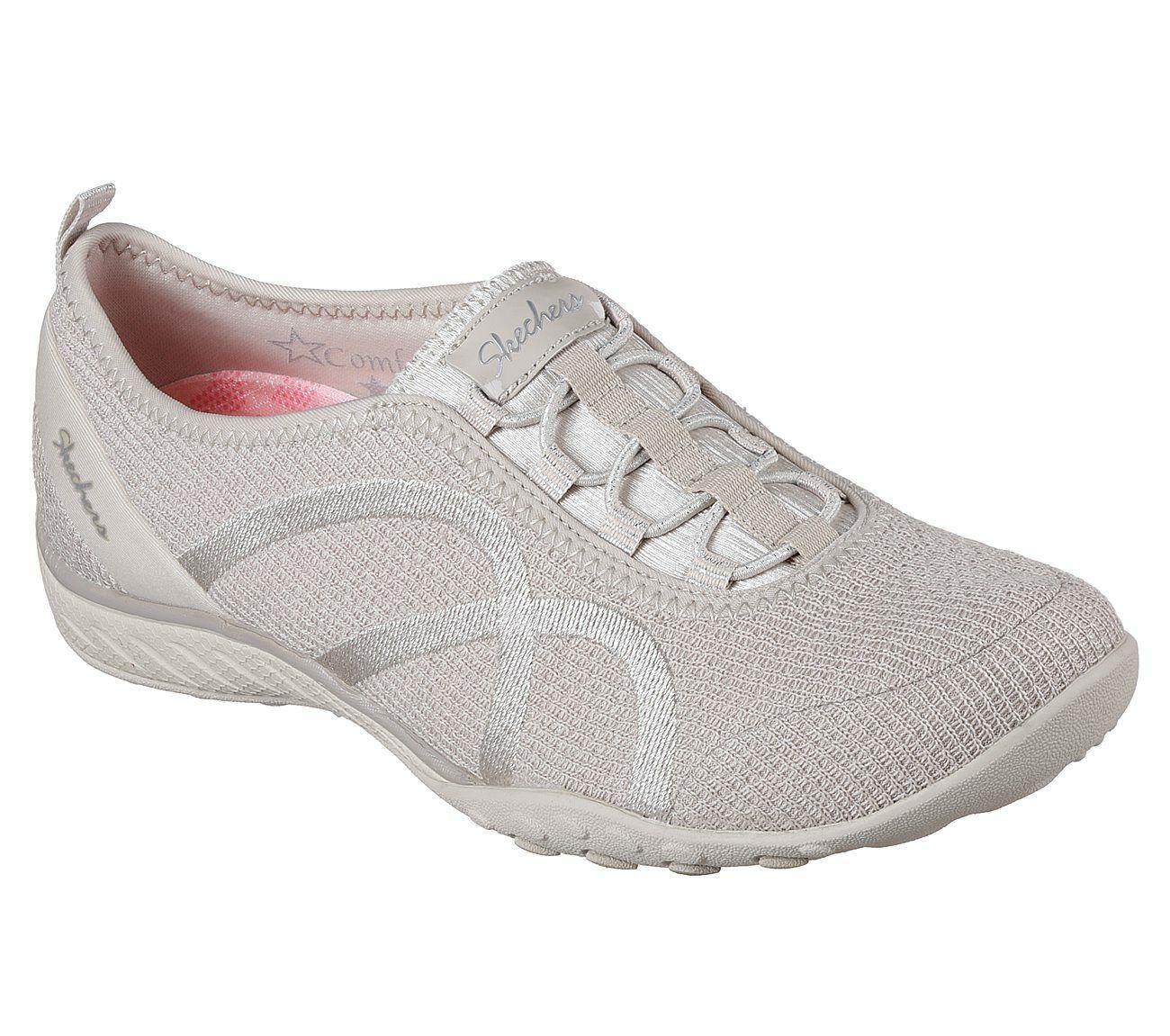 Details zu Skechers Damen Gummizug Schuh Zum Hineinschlüpfen Memory Foam Packung Größe