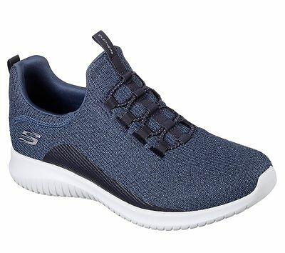12830 Navy Skechers shoes Memory Foam Women Slip On Comfort Casual Knit Mesh New