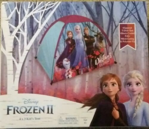 Disney Frozen 2 4' W x 3' H Kid's Play Zippered T-Door Mesh