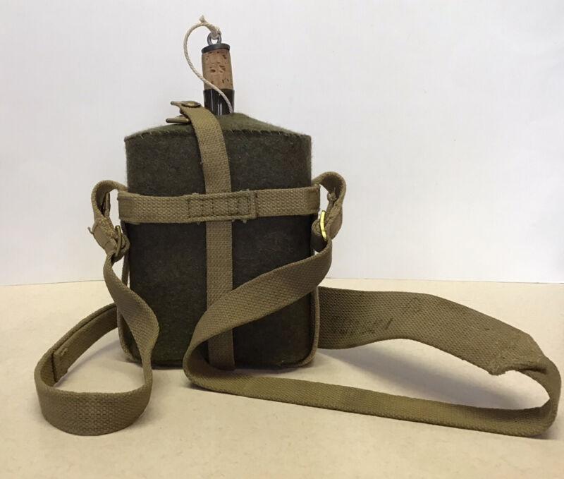 Original WW2 British Mk-VII Water Bottle With P37 Webbing Unissued