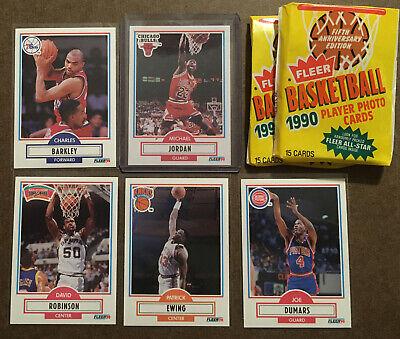 1990 Fleer Michael Jordan, Charles Barkley, Patrick Ewing,