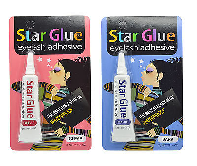 Star Glue Eyelash Adhesive False lashes Glue Eye Makeup Dark Clear Colors *1PC (Adhesive Makeup)