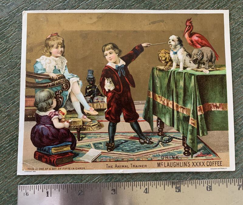 Vintage Victorian Trade Ad Card McLaughlin's Coffee