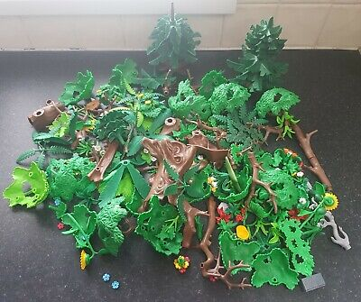 PLAYMOBIL LARGE BUNDLE OF TREE, TREES, FOREST  FLOWERS BUNDLE COLLECTION