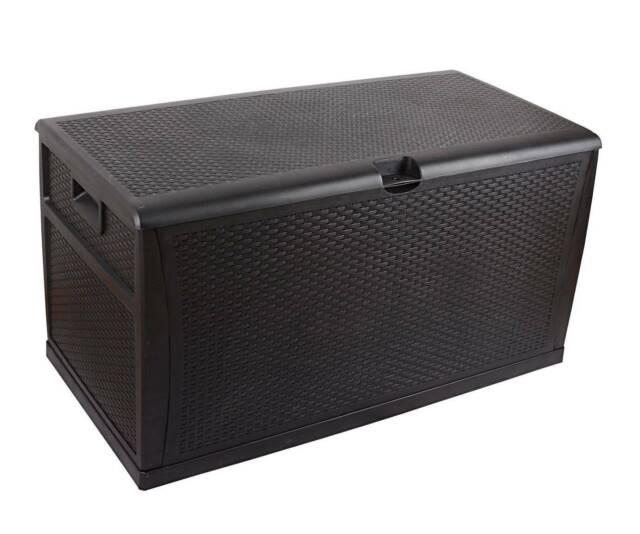 Patio Deck Box Outdoor Storage Plastic Bench Box 450 Litre ...