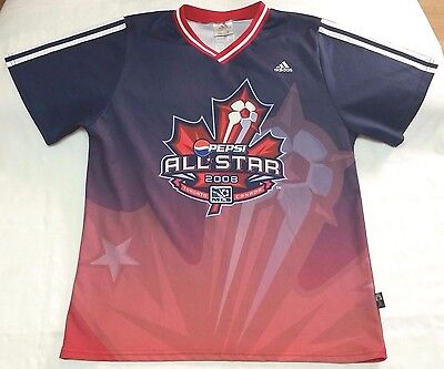 2008 Major League Soccer All-star jersey men sz L MLS Adidas ClimaLite Toronto image