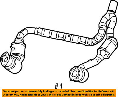 Jeep CHRYSLER OEM 07-09 Wrangler 3.8L-V6-Catalytic Converter 52059930AH
