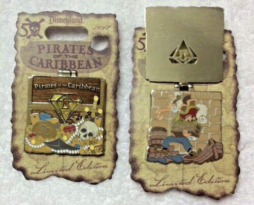 Disney Pirates of the Caribbean 50th Anniversary Chest Yellow Jewel Pin LE 2500